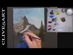 Mountain Full Lesson Acrylic painting