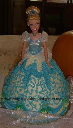doll cake, Cinderella Cake
