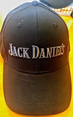 b1f754895fe Jack Daniels Baseball Hat Cap Black W Dark Gray Embroidery Brand New Never  Worn  fashion