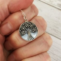 Tree necklace family tree jewelry sterling silver tree of