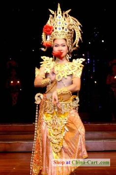 Thailand National Costumes Complete Set rental set traditional buy purchase on sale shop supplies supply sets equipemnt equipments Thailand National Costume, Pageant Makeup, Hmong People, Folk Clothing, Exotic Beauties, We Are The World, Character Costumes, Vintage Textiles, World Cultures