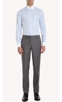 Band of Outsiders Contrast Collar and Cuff Dress Shirt
