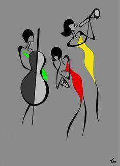Ideas For Painting Art Minimal Colour Art Sketches, Art Drawings, Illustration Mode, Minimalist Art, Fabric Painting, Painting Art, Art Music, African Art, Black Art
