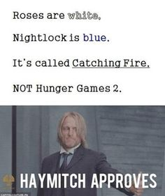 Next time I hear someone say Hunger Games 2, I'm going to lose my mind