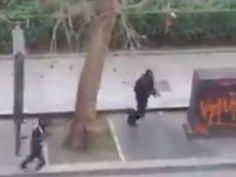 Charlie Hebdo attack video shows gunmen executing police officer, escaping in car