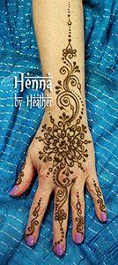 Mandala and swirl hand design - Henna by Heather