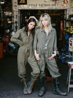 """Nothin' to see here, sweets.  Just two gal pals workin' on the big Boss' car."" ""Yeah, we're not good at undercover work, Alyx."""