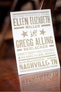 Nashville wedding program by Hatch Show Print #wedding #nashville