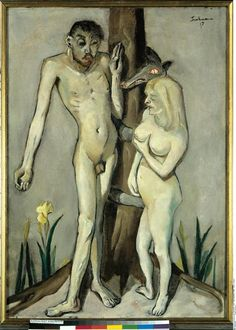Adam and Eve by Max Beckmann (1884-1950)