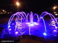 Music fountain , Belgrade Serbia. Our 25 fab fountains in Europe: http://www.europealacarte.co.uk/blog/2013/06/24/fountains-in-europe