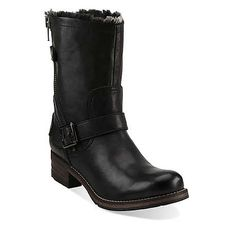 Majorca Sun in Black Leather - Womens Boots from Clarks