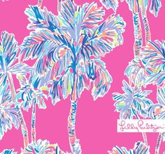 Lilly Pulitzer Flamingo Pink Nice Stems