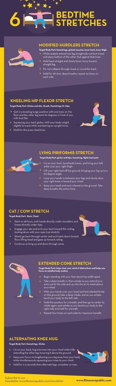 6 Bedtime Stretches Infographic
