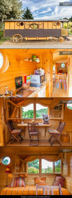 Nice caravan interior... - created via http://pinthemall.net Love the windows!