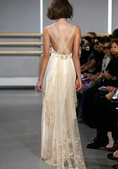 Beautiful wedding dress with sheer tulle!