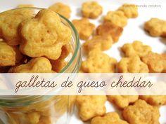 Receta: Galletas de queso cheddar