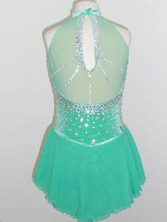 CUSTOM MADE TO FIT BEAUTIFUL ICE SKATING DRESS on eBay!