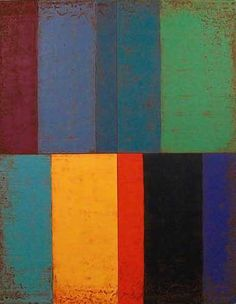 """Echo Way Painting - Acrylic on canvas, 2009 36"""" x 28"""". Steven Alexander (b1953) is an American artist who makes abstract paintings characterized by luminous color, sensuous surfaces, and iconic geometric configurations."""