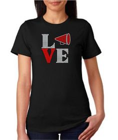 LOVE Squared with MegaPhone Rhinestone Shirt #cheerleading