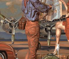 TO STRIVE , TO SEEK , TO FIND detail from a painting by Peregrine Heathcote / oil on canvas