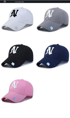 Baseball Hats Solid color N letter Embroidered Cap for Men 8fe640596c