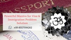 If you are suffering from #Visa and #Immigration_Problem? The Powerful #Mantra for Visa and Immigration problem solution can be made easy for going #abroad and for settle life in abroad if there is no success achiever or got people in the native place. Check these effective mantras 👇