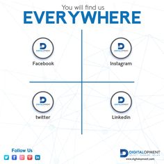 You Will Find Us EVERYWHERE  Follow us on instagram Follow us on Twitter Follow us on LinkedIn Follow us on Pinterest  #digitalmarketing #digitalmarketingagency #digitalmarketingservices #digitalmarketingagencyindubai #digitalopment Digital Marketing Services, Facebook Instagram, Dubai, Twitter, Business, Store, Business Illustration