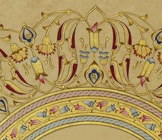 tezhip sanatı - Google'da Ara Arabic Calligraphy Art, Arabic Art, Turkish Pattern, Illumination Art, Islamic Patterns, Islamic Paintings, Turkish Design, Fabric Rug, Illuminated Manuscript