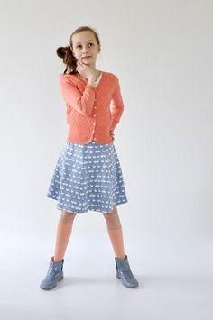 LOTTA: gratis patroon rok in tricot van Maat 86 tot Maat 164.