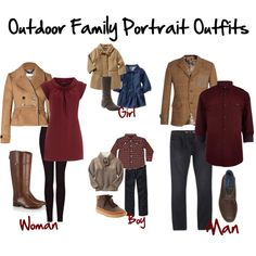 family photo outfits Example of appropriate family portrait wear. Fall Family Picture Outfits, Family Picture Colors, Family Portrait Outfits, Summer Family Pictures, Family Pictures What To Wear, Winter Family Photos, Fall Family Portraits, Family Pics, Fall Photo Outfits