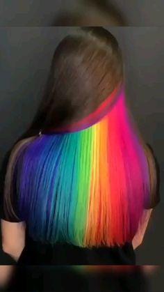 Pretty Hair Color, Hair Color Purple, Hair Dye Colors, Pink Hair, Peacock Hair Color, Exotic Hair Color, Peekaboo Hair Colors, Hair Color Streaks, Hair Highlights