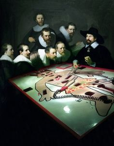 The Anatomy Lesson of Dr Nicolaes Tulp by Rembrandt and Operation board game