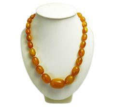 Victorian butterscotch amber necklace