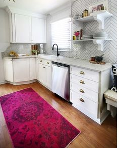 Here's another view of the L-shaped countertop.(For more on Martha Stewart Living kitchens, visit The Home Depot.)