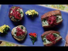 Bolinho de Arroz Integral & Batata Doce Assada com Maionese de Tofu & Carpaccio de Abobrinha - YouTube