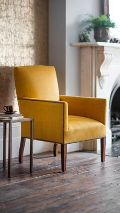 The Nicholas chair has simple clean lines and is enhanced with antique studding. It is a small, neat and beautifully supportive armchair. We think it is an early 19th Century classic.