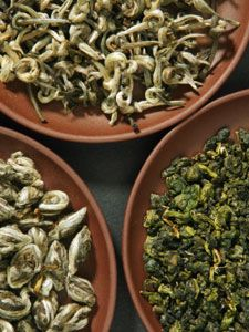 Learn About Famous Chinese Teas: Silver Needle, White Peony, Dragonwell, Gunpowder, Ti Kuan Yin, Keemun, Yunnan, Lapsang Souchong, & Pu-erh.