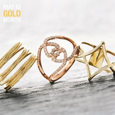 It's all in the hands! There is no better way to decorate your digits than with trendy gold rings!