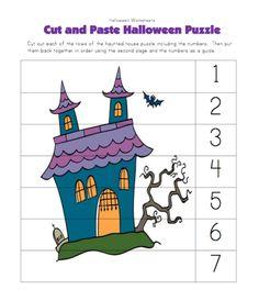 Halloween puzzle worksheet