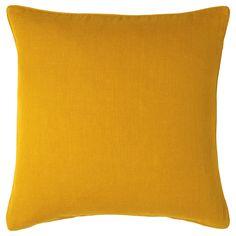 Plain Linen Cushion Cover, Large - OKA