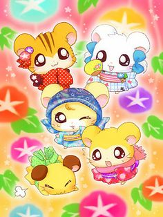 I used to love watching Hamtaro! Art Kawaii, Kawaii Chibi, Cute Chibi, Anime Chibi, Kawaii Anime, Hamtaro, Doremi Anime, Kawaii Crush, Decoupage