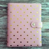 Limited Edition Just Peachy A5 Planner with Gold Foil Hearts Special O | Marion Smith Designs