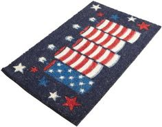 DII Patriotic Firecrackers Coir Doormat with Vinyl Back by DII. $24.99. Great summer party decor. See all of Design Imports great kitchen, home, and gift products. Shake briskly to clean. Includes 1 DII Patriotic Firecrackers coir doormat 18-inch by 30-inch; vinyl back. DII Firecrackers doormat features 5 stars-n-stripes candles on navy blue background. Coir with vinyl back. 18-inch by 30-inch. Great summer party decor.