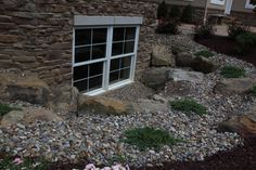 1000 images about egress window ideas on pinterest for Decorative rocks for landscaping near me