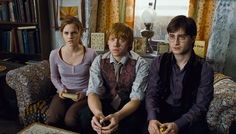 Harry, Ron, and Hermione. Harry Potter and the Deathly Hallows Part 1 Harry Potter Quiz, Hard Harry Potter Trivia, Blaise Harry Potter, Harry Potter Theories, Harry Potter Characters, Harry Potter Movies, Hp Movies, Harry And Hermione, Hermione Granger