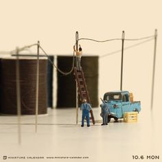 Little people project Miniature Photography, Toys Photography, Macro Photography, Creative Photography, Creative Pictures, Creative Art, Miniature Calendar, Art Du Monde, Foto Fun