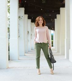 pink and green... and love that scalloped hem! // the modern savvy