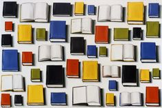 Lisa Milroy 'Books' Oil on canvas 76x112in