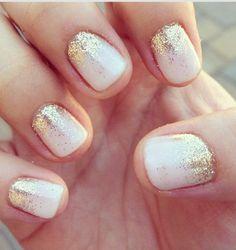 Gold and white nails cute nails beautiful glitter gold pretty nails dreamy gold nails white nails How To Do Nails, Fun Nails, Pretty Nails, Prom Nails, Homecoming Nails, Xmas Nails, Sexy Nails, Weddig Nails, Cute Simple Nails