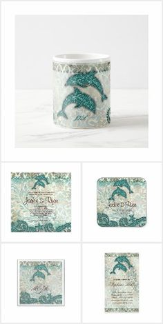 Dolphin Day Beach Wedding Invitations, Cards & Gifts for a dazzling day! What could be more loving than dolphins to add to your special day? Beach Wedding Invitations, Dolphins, Special Day, Tropical, Cards, Gifts, Presents, Maps, Favors